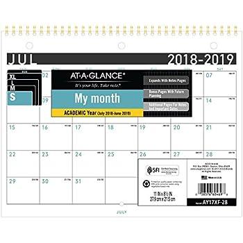 at a glance 2018 2019 academic year wall calendar small 11 x 8 12 contemporary ay17xf2819
