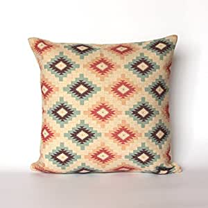 Southwestern Pillow Shams : Amazon.com: Aztec throw pillow covers Navajo decorative pillow cases Southwestern pillow shams ...