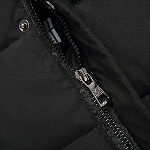 aged men's black Winter HHY clothes padded solid men's clothes thickening leisure 170 middle cotton CwACxanqt