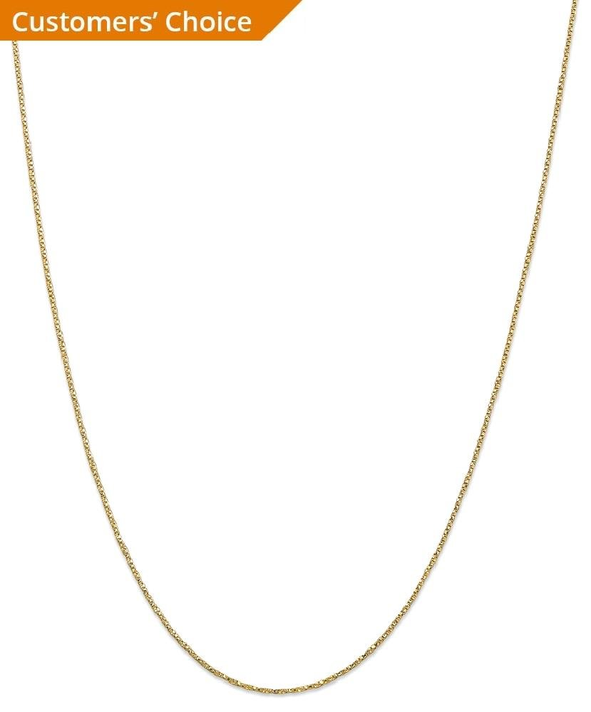 ICE CARATS 14k Yellow Gold .95mm Twisted Link Box Chain Necklace 18 Inch Fine Jewelry Gift Set For Women Heart by ICE CARATS (Image #2)