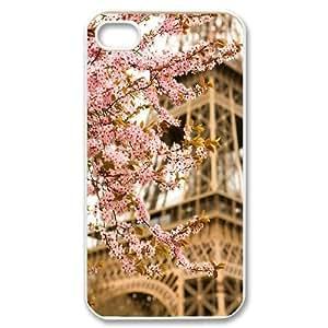 Flower Paris Customized Cover Case for Iphone 4,4S,custom phone case ygtg618523