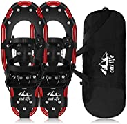 NACATIN All Terrain Snowshoes Lightweight Aluminum Alloy Snow Shoes with Carry Bag and Adjustable Ratchet Bind