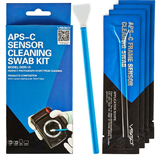 Professional Cleaning Kit for DSLR Cameras APS-C (CCD/CMOS) Sensor Cleaning Swabs (10 X 16mm )