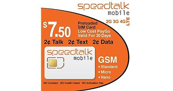 Amazon.com: PREPAID GSM tarjeta SIM $ 7,50 preloaded 30 días ...