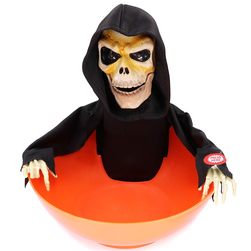 Halloween Skeleton Treat Bowl, Bestipik Candy Dish Creative Festival Ghost - Trick or Treat - Candy Bowl Decor for Party/Bar / Holtel (Black) (Black)