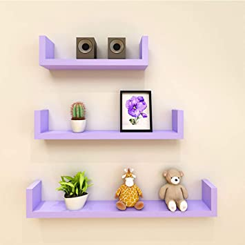 amazon com ltjtvfxq shelf set of 3 wall shelves floating shelves rh amazon com 3 small wall shelves 3-piece wall cube shelves