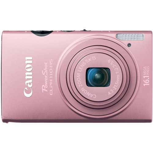 Canon PowerShot ELPH 110 HS 16.1 MP CMOS Digital Camera with 5x Optical Image Stabilized Zoom 24mm Wide-Angle Lens and 1080p Full HD Video Recording (Pink) Review