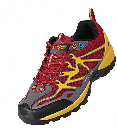 Ben Sports Rot Damen Herren Wanderhalbschuhe Wanderstiefel Traillaufschuhe Laufschuhe uizvZ3q3i