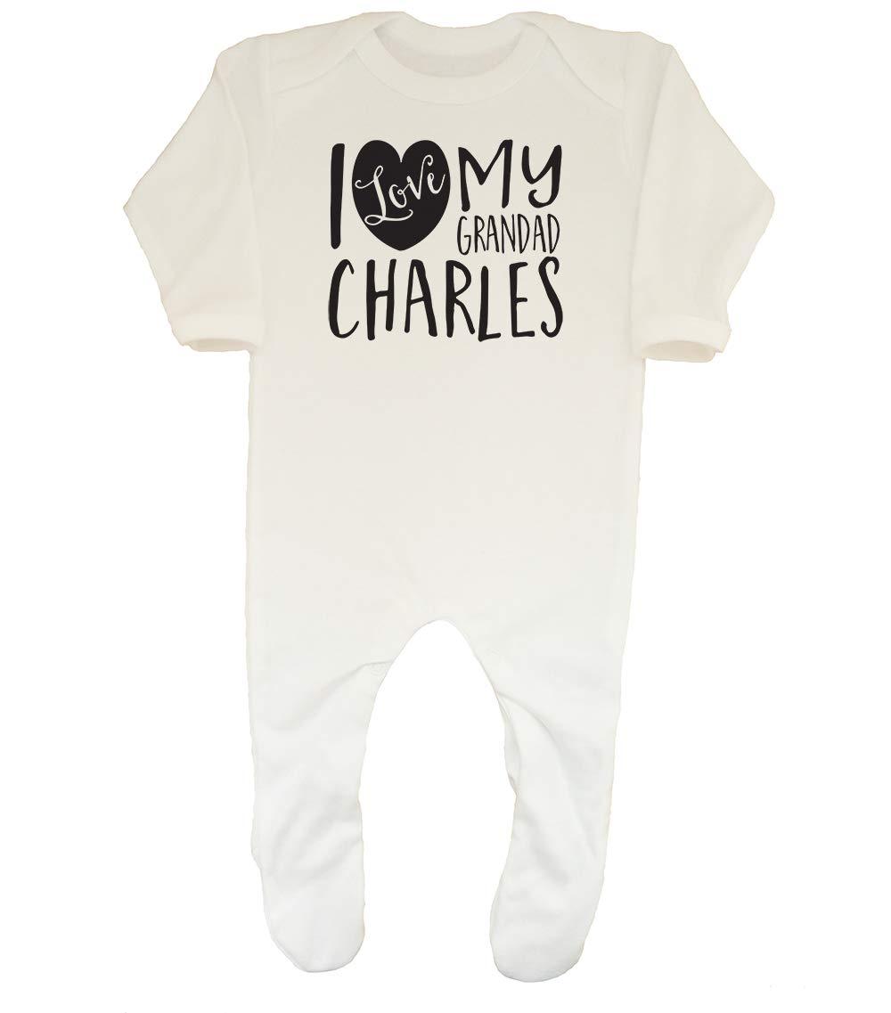 Shopagift Baby Personalised I Love My Grandma Sleepsuit Romper