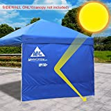 MasterCanopy Sunshield Side Wall Instantly Attaches to Any 10x10ft Straight Leg Pop Up Instant Canopy Tent(Such As AmazonBasics Canopy) (10ft, Blue)