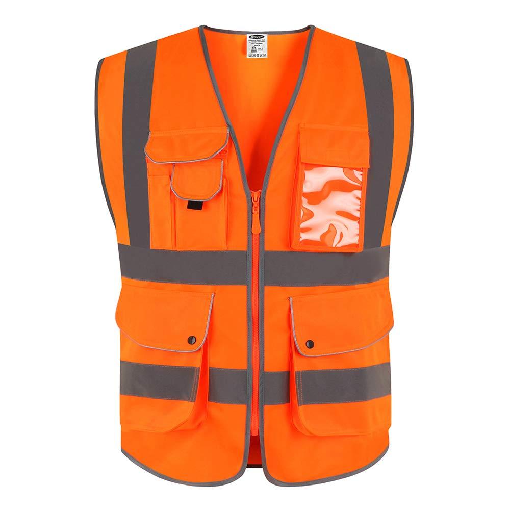 JKSafety - Gilet Alta Visibilità Arancione(L)