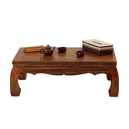 Muebles y Accesorios de jardín Mesas Pequeña Mesa Mesa de té Rectangular de Madera Maciza café