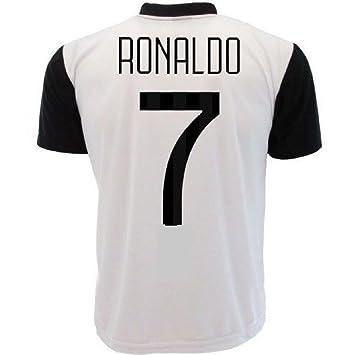 Perseo Trade - Camiseta de Ronaldo 7 Juventus, réplica, neutral PS 27365bis poliéster, negro blanco, medium: Amazon.es: Deportes y aire libre