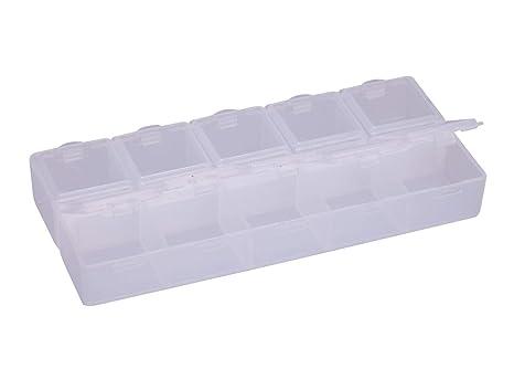 Amazon.com: 2 estuches de almacenamiento de plástico ...