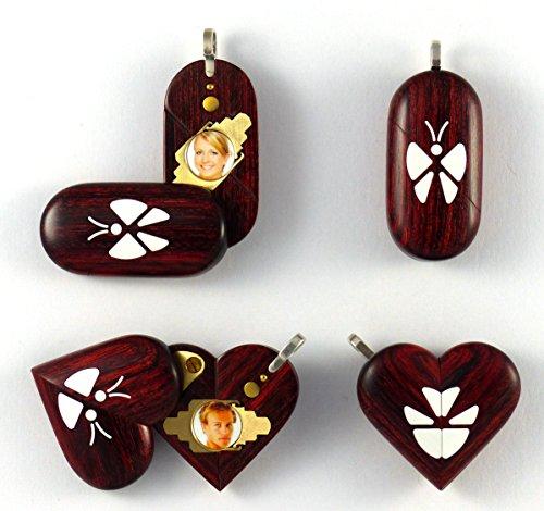 Illusionist Locket Unique Magic Butterfly Wood Pendant By Illusion Lockets by Illusion Lockets LLC