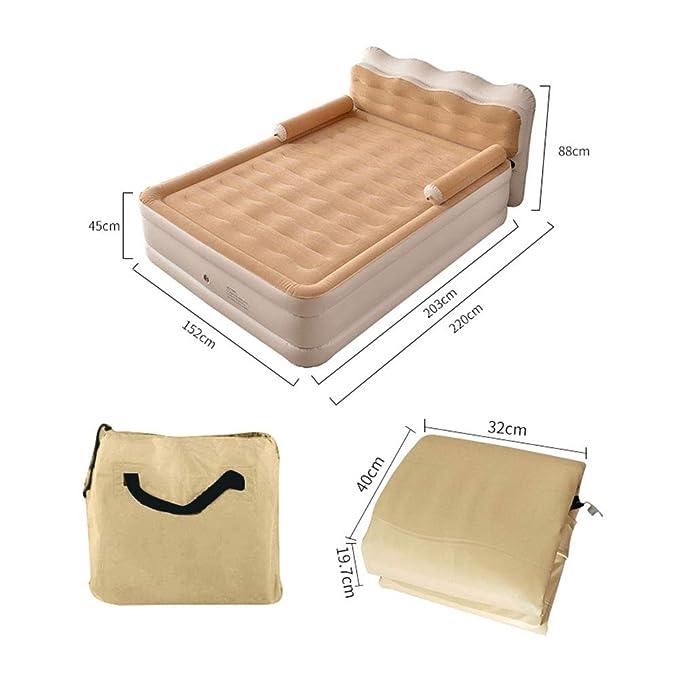 Amazon.com: HOPELJ Cabecero de cama hinchable de felpa ...