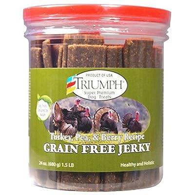 Triumph Dog Turkey, Pea, Berry Grain Free Jerky, 24-Ounce [2-Pack] by Triumph