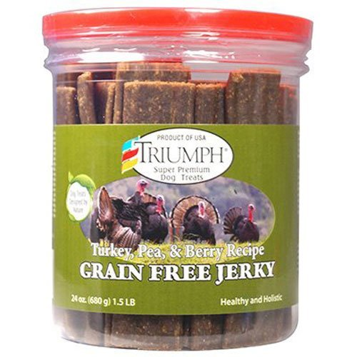 Triumph Dog Turkey, Pea, & Berry Grain Free Jerky, 3 Pack(24 oz) CVNB