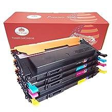 Toner Kingdom Compatible Samsung CLT-406S CLT-K406S CLT-C406S CLT-M406S CLT-Y406S Toner Cartridge for Samsung CLP-365 CLP-365W CLX-3305 CLX-3305FW Xpress C410W SL-C410W SL-C460FW SL-C460W Printer - BCMY, 4-Pack