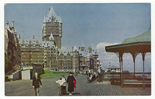 (The Chateau Frontenac Hotel and the Dufferin Terrace, Quebec City, Quebec Vintage Original Postcard #2295 - 1950's)
