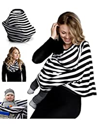 Nursing Breastfeeding Cover Scarf - Baby Car Seat Canopy, Shopping Cart, Stroller, Carseat Covers for Girls and Boys - Best Multi-Use Infinity Stretchy Shawl BOBEBE Online Baby Store From New York to Miami and Los Angeles