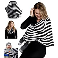 Nursing Breastfeeding Cover Scarf - Baby Car Seat Canopy, Shopping Cart, Stro...