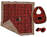 Carstens Boxed Baby Gift Set, Red Plaid Bear