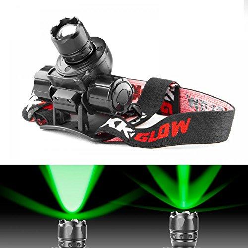 (GREEN Spot and Flood Retractable Lens Heavy-duty CREE LED Headlight)