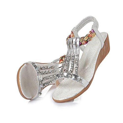 XZGC - Tira de tobillo Mujer plata
