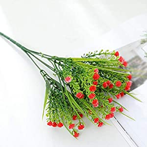 Takefuns 5 PCS Baby's Breath Bunch Artificial Flowers Simulation Fake Plant Wedding Decoration 97
