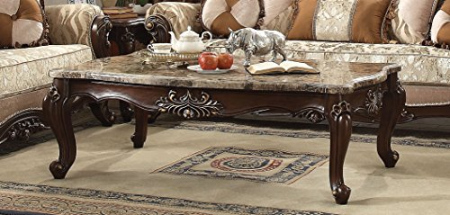 (Major-Q Luxurious Traditional French Style Marble Top Coffee Table, P7081050)