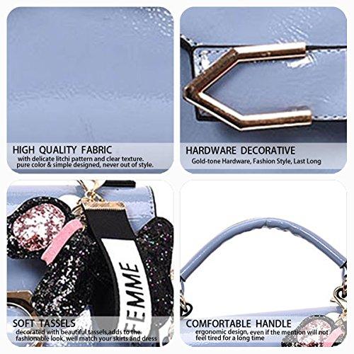 Faux Handle Bags Bags Bags Shoulder Handbags Body Top Leather Women's Cross Wathet wqUBzfW