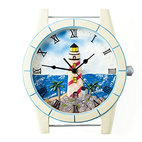 - American Creativity Fashion Modern Silent Lighthouse Wall Clock Decoration Gifts Living Room Bedroom Children's Room 2427