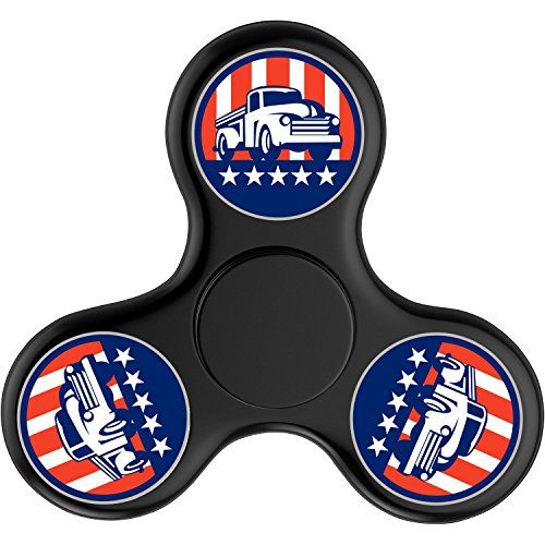 [Truck USA Flag EDC Hand Spinner Tri Fidget Fingertip Gyro Stress Relief ADHD ADD Focus Toys High Speed, Best Fidget Toys Fiddle Sensory Toys For Kids Classroom For Camo] (Usa Flag Dress Teen Costumes)