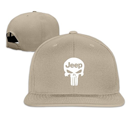 MaNeg Punisher Skull Jeep Unisex Fashion Cool Adjustable Snapback Baseball Cap Hat One - Men Online Prada