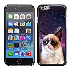 Graphic4You Cute Funny Grumpy Cat In Space Animal Design Hard Case Cover for Apple iPhone 6