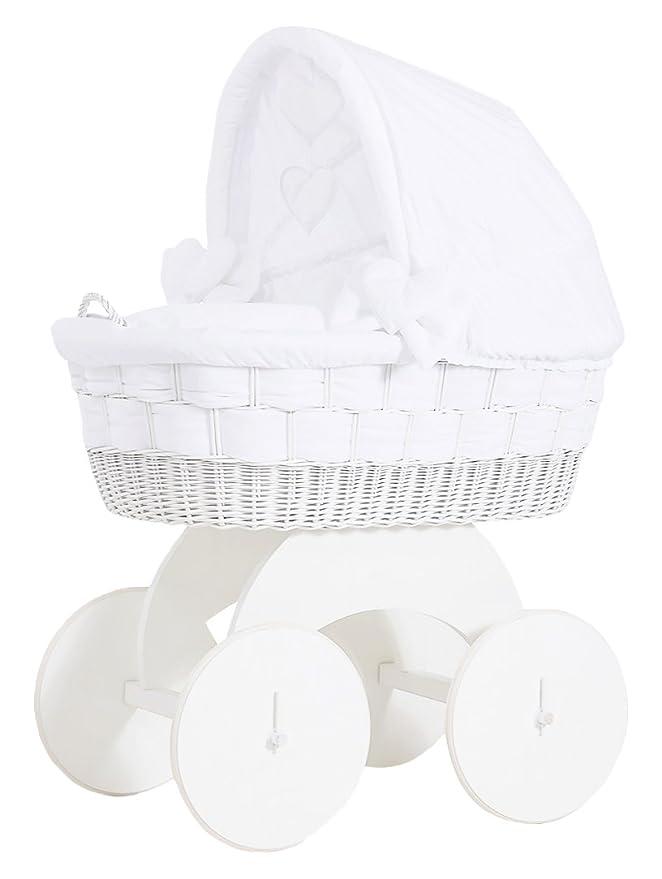 Mi Dulce Bebé diseño de lujo mimbre Moisés Basket con ...