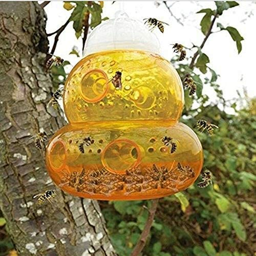 2pack Wasp Trap Hornets Yellow Jackets Wasp Repellent Trap Bee Catcher