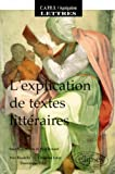 L'Explication de textes littéraires