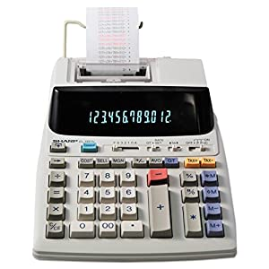 Sharp EL-1801V Two-Color Printing Calculator 2.1 Lines/Sec 4″ Black/Red