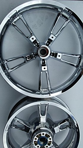 Chrome Harley Wheels - Harley Enforcer 2014-2019 Chrome Wheels Rims Set Touring StreetGlide Road Glide FLH