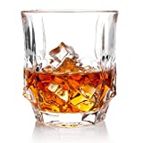 Nile Whiskey Glasses, Gift Pack Set Of 2 - Scotch Lead Free Liquor Tumblers, Dishwasher Safe, Classic Old Fashioned Barware, Rum Vodka Glassware, Elegant Ultra Clarity Cocktail Bourbon Whisky Glass