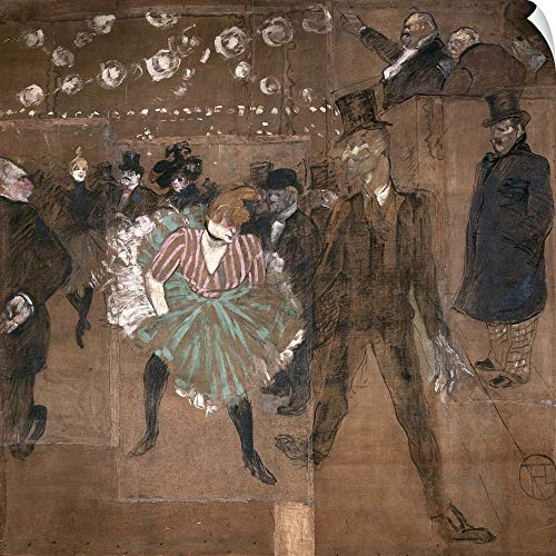 (CANVAS ON DEMAND Dancing at The Moulin Rouge: La Goulue (1870 1927)