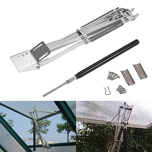 Double Spring Automatic Window Opener Carbon Steel Greenhouse Window Automatic Vent Opener, Solar Heat Sensitive Window Roof Auto Vent Opener Temperature Controlled Automatic Vent Opener- Lift 15 Lbs