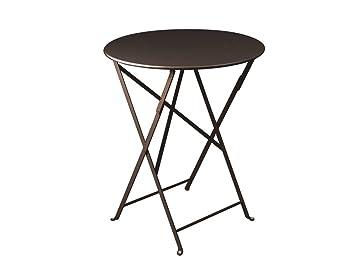 Table Bistro Ronde (Couleur plateau : Rouille) - Fermob: Amazon.fr ...