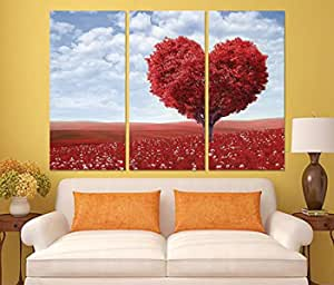 Landscape And Nature Wooden Tableau, 120x120 Cm - Set Of 3 Pieces , 2724804568006
