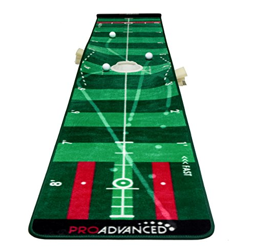 - ProAdvanced ProInfinity Putting Mat - 4 Speed Golf Green Simulater - Special Package - for Family - for Children - for Party (Renewed)