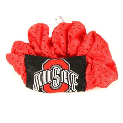 (Ohio State Buckeyes Red Hair Scrunchie - Hair Twist - Ponytail Holder)