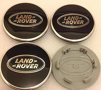 4 x Land Rover 63 mm Buje tapas Buje Tapa Tapacubos Llanta Tapa Cromo Negro: Amazon.es: Coche y moto