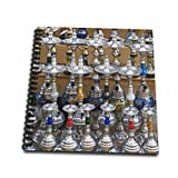 3dRose db_71649_1 Market, Hookah Pipes in Sidewalk Shop, Luxor, Egypt-Af14 Aje0223-Adam Jones-Drawing Book, 8 by 8-Inch